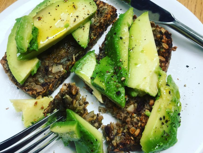 The vitality group is a way to get inspired to eat well, cook well and learn how to look after your body so you feel great and keep illness at bay.  Seasonal recipes and monthly health tips along the way. This photos shows the amazing power of avocado on top of some seedy gluten-free bread and drizzled with pure organic extra virgin olive oil