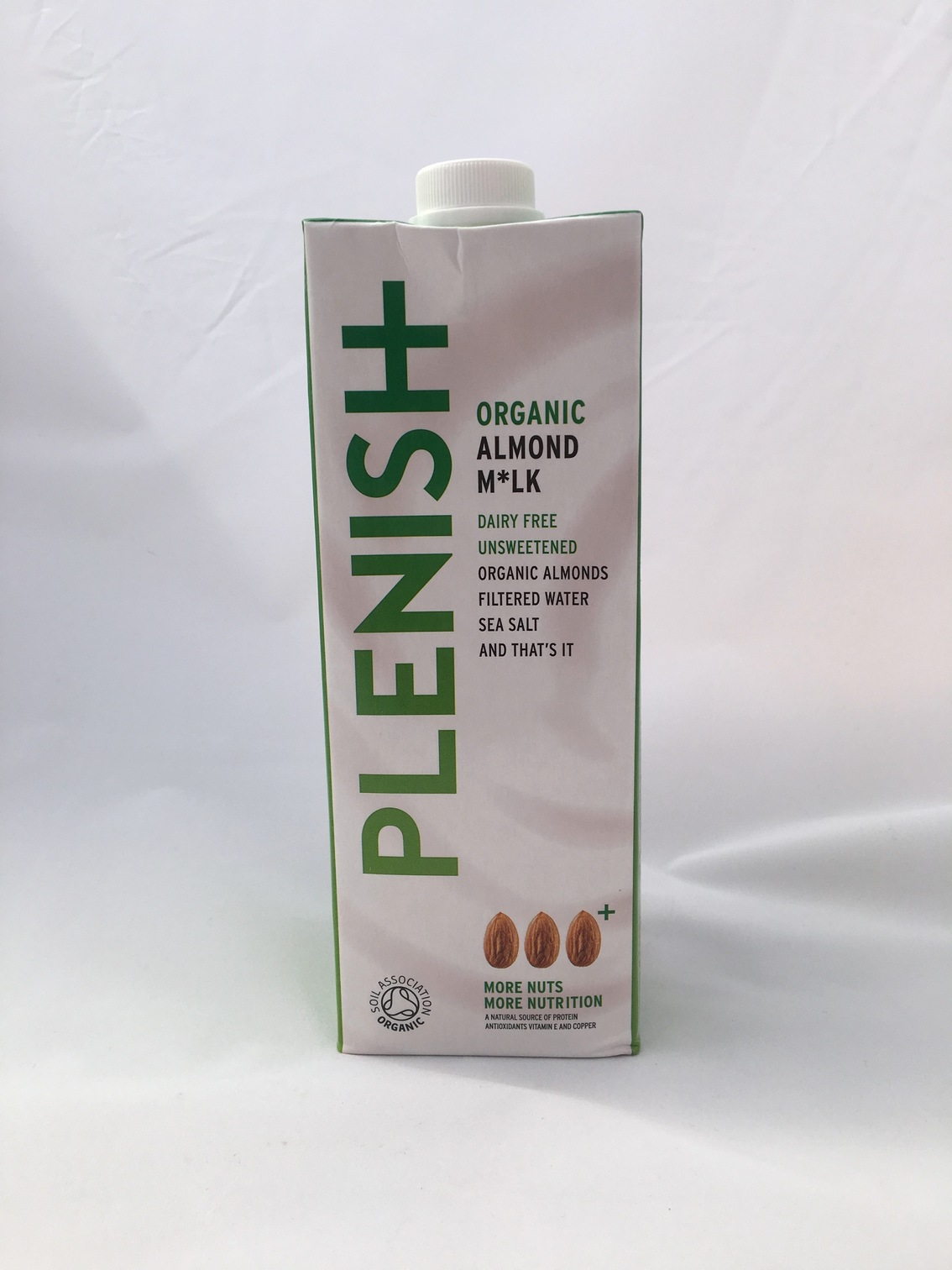 Plenish organic almond milk, dairy free unsweetened organic almonds, filtered water and sea salt. A delicious plant-based milk to use in all recipes required dairy milk.