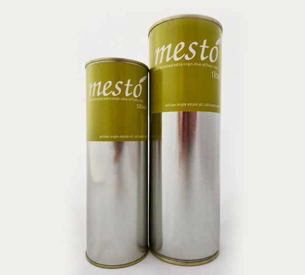 Mesto Extra Virgin Olive Oil tins