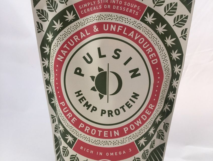 Cold pressed Pulsin hemp protein powder is rich in omega 3, fibre and essential vitamins and minerals with no added sugar or sweeteners.